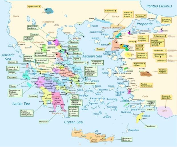 Homer Iliad Map