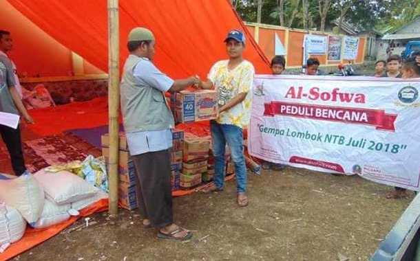 Pendistribusian Bantuan di Wanasaba