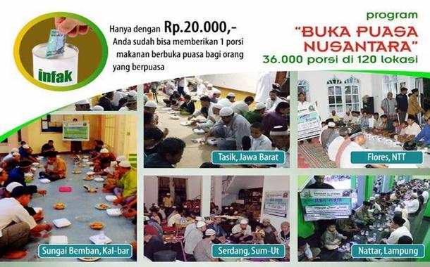 Satu Porsi untuk Saudaraku Buka Puasa Ramadhan di Nusantara