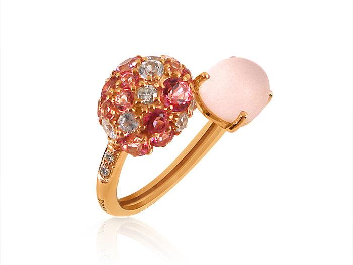 Brumani 18k Rose Gold Baobab Bubbles Multi Gemstone Ring