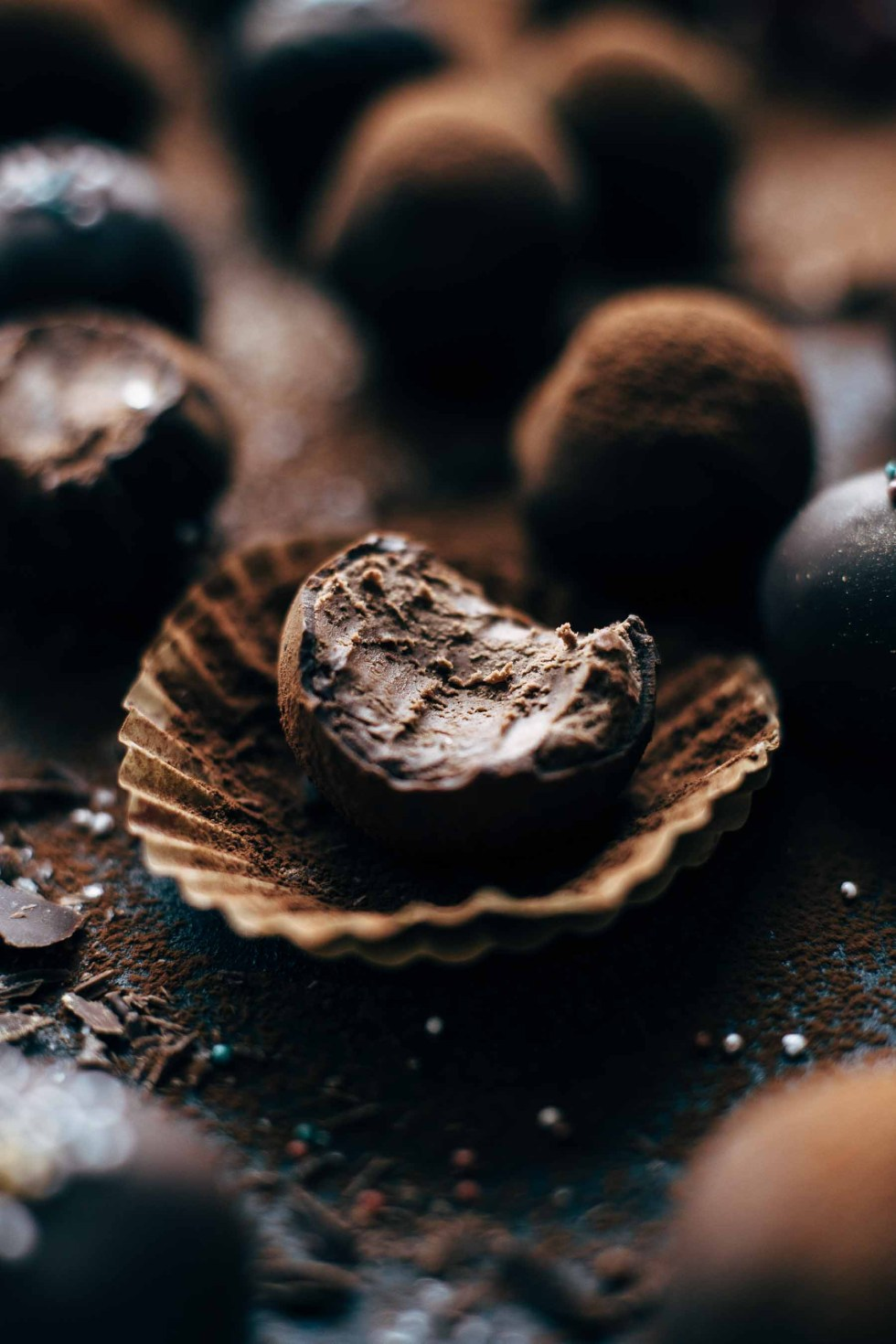 Easy Chocolate Rum Truffles