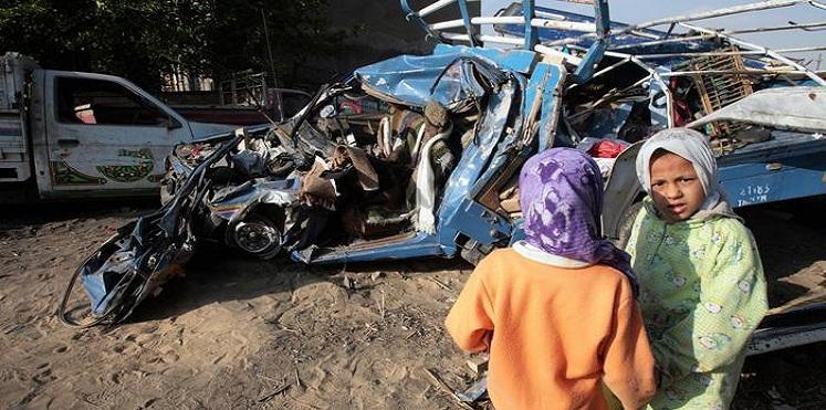 وفاة 19 شخصا في حادث مروري بمصر