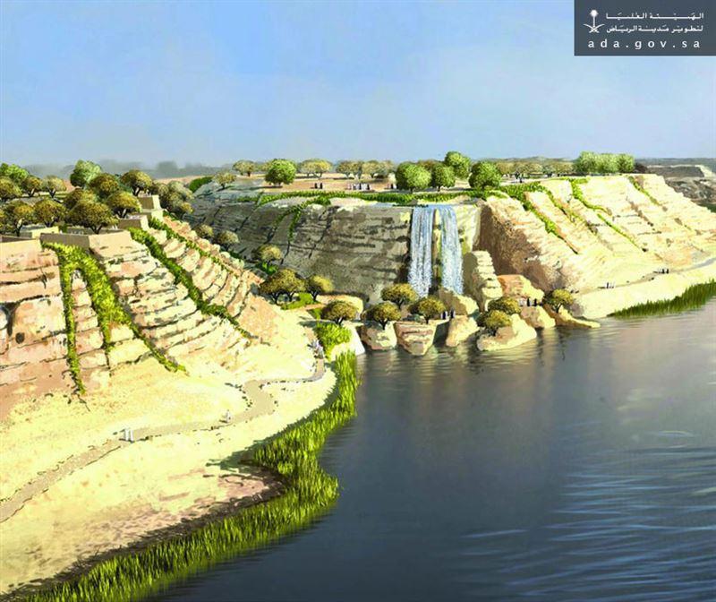 كورنيش وادي نمار يقصده سكان العاصمه للاستمتاع بأوقاتهم على ضفتي البحيرة