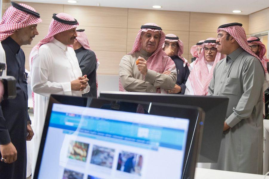 ويزر الإعلام يزور مقر وكالة الأنباء السعودية وهيئة الإذاعة والتلفزيون