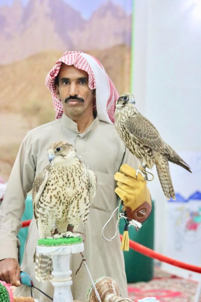 مواطن من خيبر: يشتري الصقور ليطلق سراحها حماية لها من الانقراض