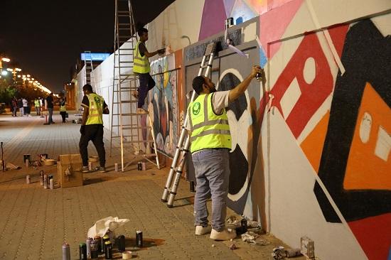 """أمانة الرياض تطلق فعالية """"تجميل الجداريات"""" بمشاركة نخبة من المواهب الوطنية"""