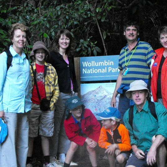 Pagotto family group, Mt Warning 2010