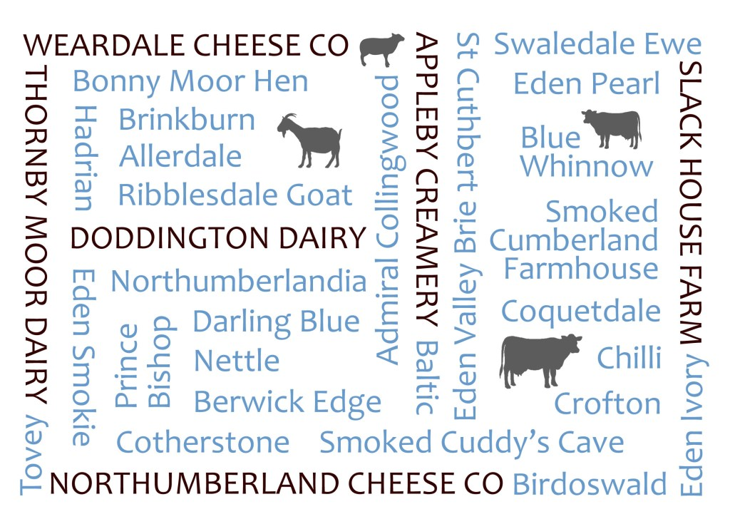 Local cheeses graphic