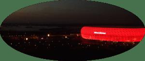 Allianz-Arena neben einem Nebelsee