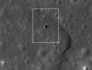 Agujero encontrado en la Luna