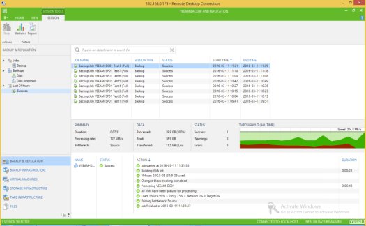 23 - Test 8 - Veeam GUI