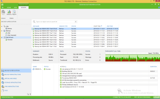 27 - Test 9 - Veeam GUI