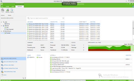 38 - Test 13 - Veeam GUI