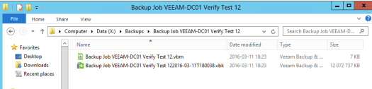 41 - Test 12 verification - filesize