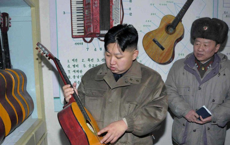 kim jong un's favorite songs and music and his love of the guitar
