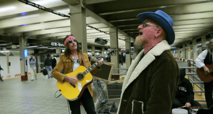U2 in disguise. Bono of the rock's most hated figures