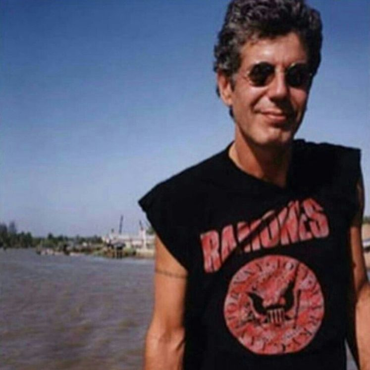 Anthony Bourdain wearing a Ramones t-shirt punk rock influence on society how did punk rock affect society how punk rock changed the world original punk rock bands famous punk bands