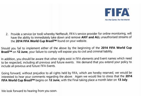 La FIFA a las webs de streaming: Eliminen los enlaces a partidos del Mundial o aténganse a las consecuencias