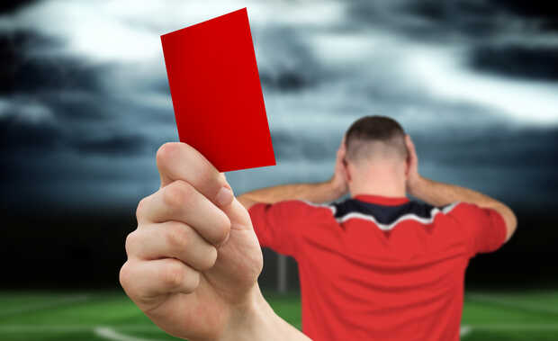 Tarjeta roja fútbol