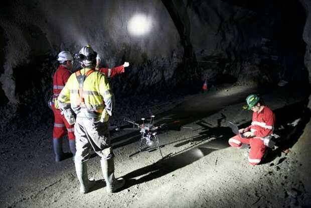 Explorando minas con drones autónomos Drone DJI