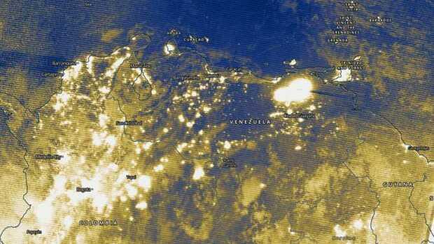 Así se ve el apagón de Venezuela desde el espacio