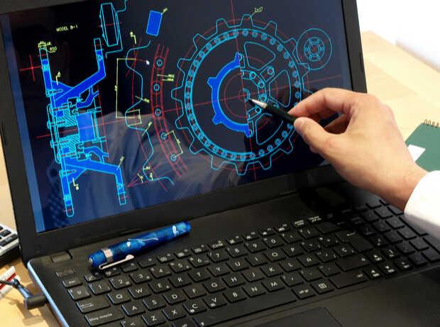 Computadora portátil con diseño Mira las novedades del AutoCAD 2020