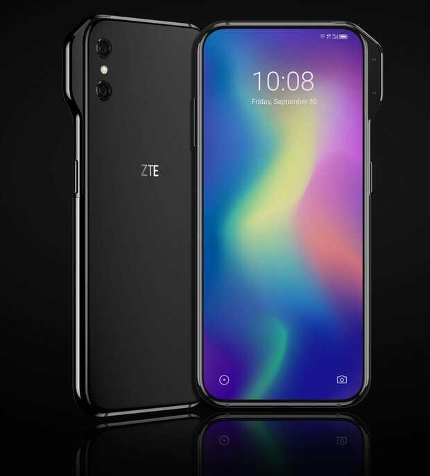 ZTV AXON V Sin muesca ni perforaciones para la cámara ZTE reinventa su pantalla total