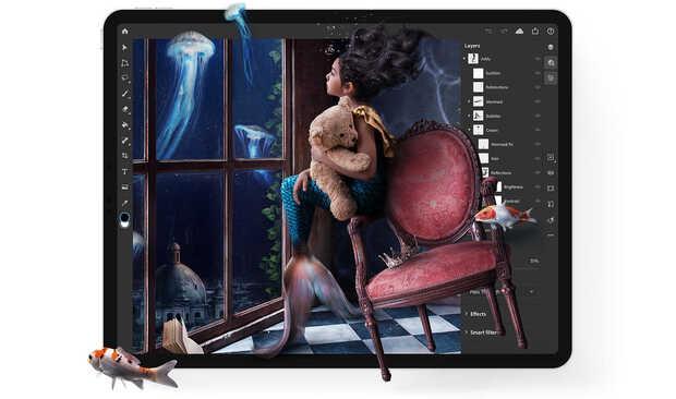 """Photoshop for iPad: ya está disponible """"gratis"""" en iTunes"""