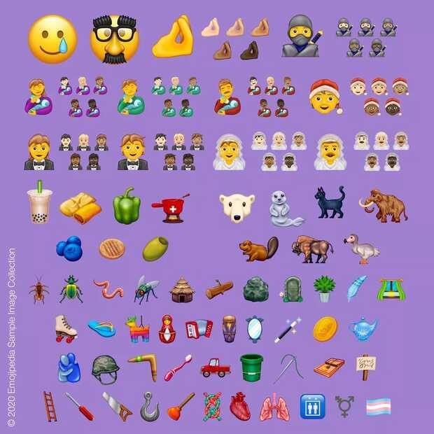 Lista completa de los 117 nuevos emojis de 2020