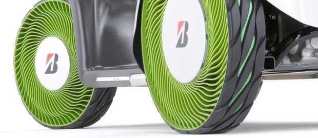 Bridgestone airless tires: las ruedas sin aire llegarán primero a camiones