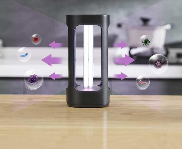 Lámpara Xiaomi que elimina virus y bacterias del hogar