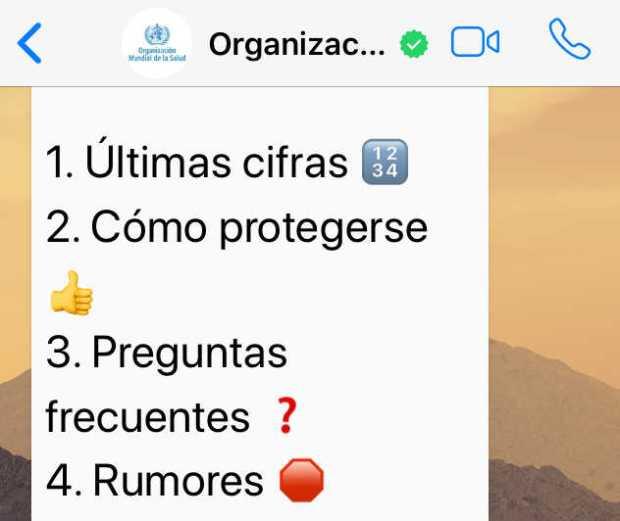 Únete aquí al canal oficial de la OMS en WhatsApp ya disponible en español