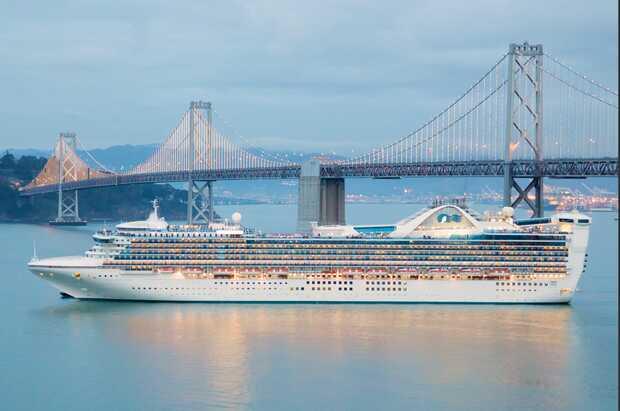 Brote de coronavirus en un crucero desata la emergencia en California. Imagen referencial del Star Princess Cruiseship en San Francisco