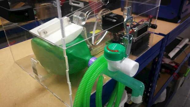 Ingenieros españoles se unen para fabricar respiradores económicos usando impresión 3D