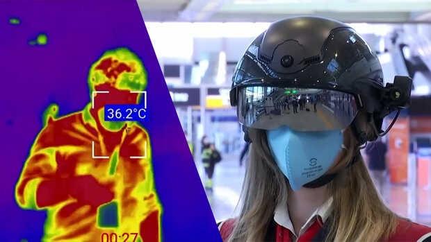 Así detectan a los pasajeros con fiebre en el aeropuerto de Roma