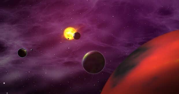 Sistema Solar en miniatura y los exoplanetas rocosos más jóvenes conocidos