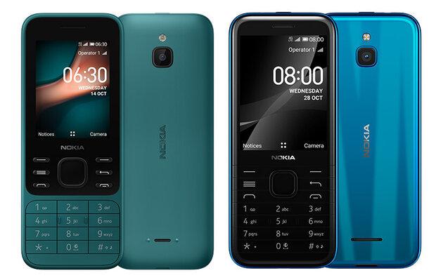 Nuevos y súper económicos Nokia 6300 y Nokia 8000 con 4G y KaiOS