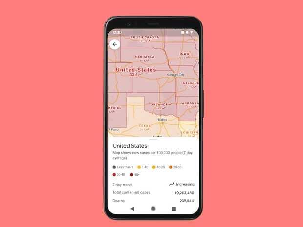 Google Maps mostrará número de contagios registrados en una zona desde el comienzo de la pandemia deCOVID-19