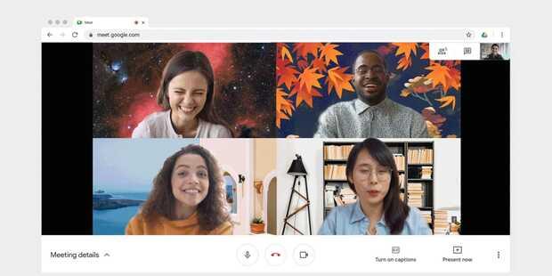 Google Meet lanza imágenes de fondos personalizados para la web