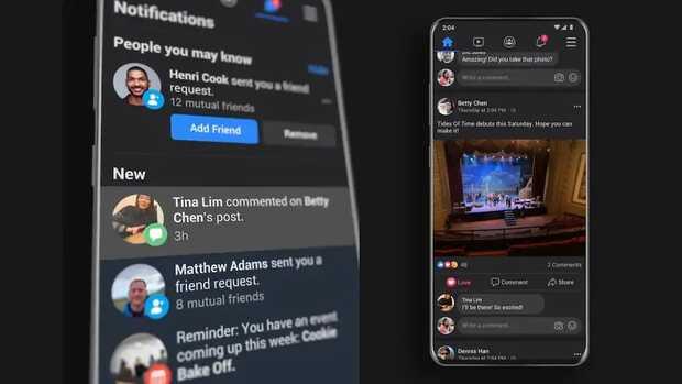 Modo oscuro de Facebook finalmente se implementa en Android e iOS