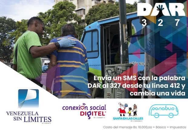 Digitel ayuda a cambiar vidas con solo enviar un SMS