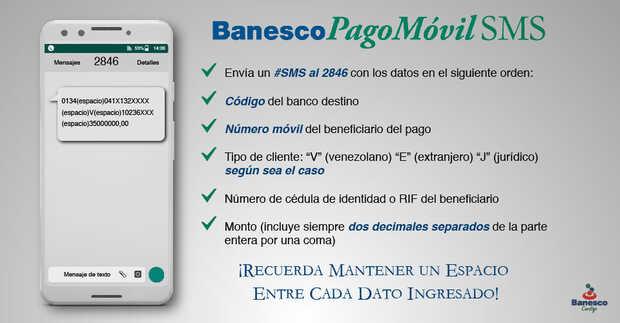 Pago Móvil SMS de Banesco ahora permite hasta Bs. 50 millones