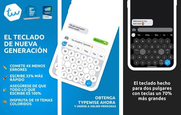 TypeWise: ingenioso teclado para Android hecho con teclas grandes para los pulgares