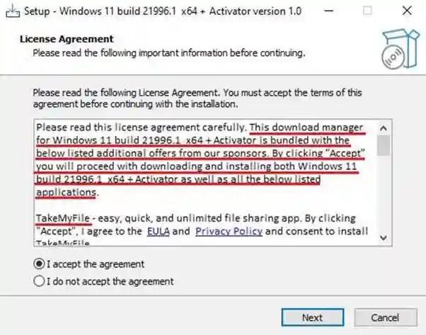 Malware se propaga disfrazado de actualización gratis de Windows 11