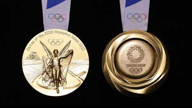 Tokio 2020: reciclan 80 toneladas de pequeños aparatos electrónicos para producir las medallas olímpicas y paralímpicas