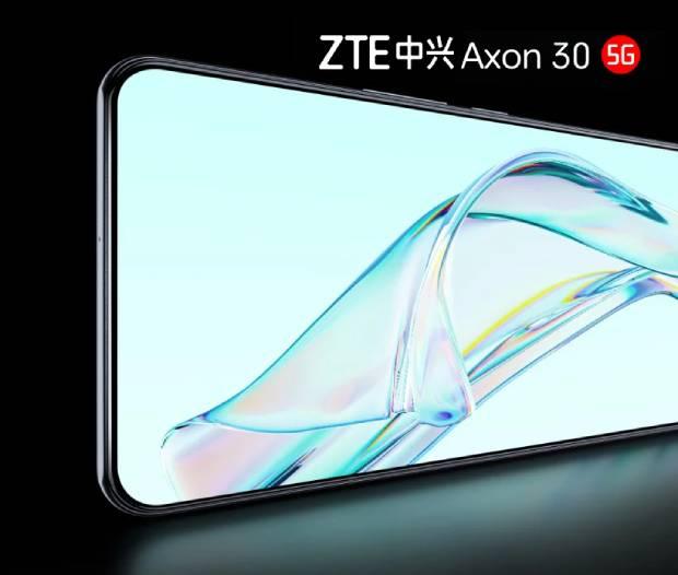 Póster prelanzamiento del ZTE Axon 30 5G confirma su cámara debajo de la pantalla