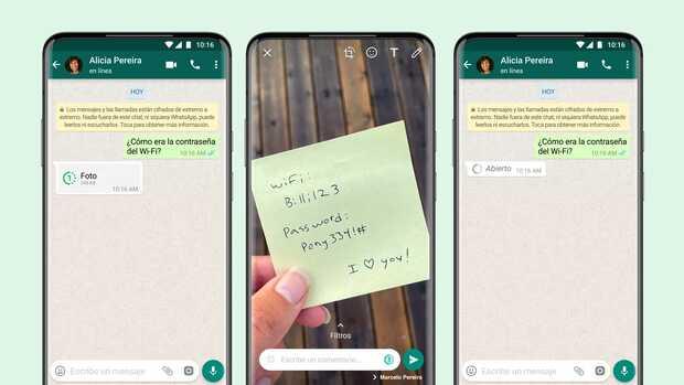 Fotos y videos de visualización única es la nueva forma de enviar archivos privados en WhatsApp