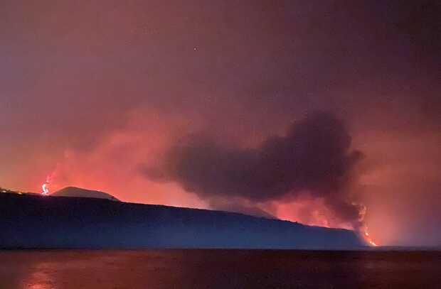 Sorprendentes imágenes de la erupción volcánica en la isla de La Palma en Canarias