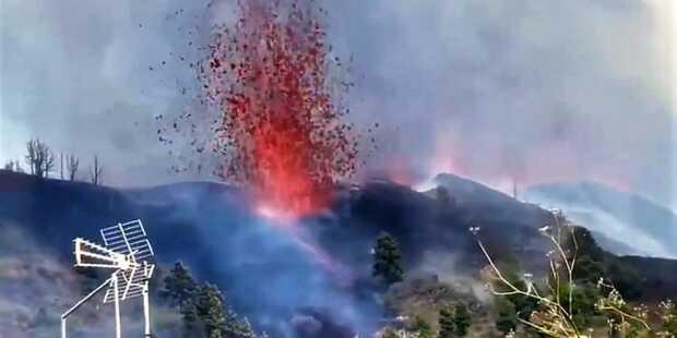 erupción volcánica en la isla de La Palma en Canarias