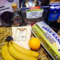 Lemon & Blueberry Pancakes Ingredients